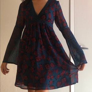 Abercrombie and Fitch flower dress, Small tall